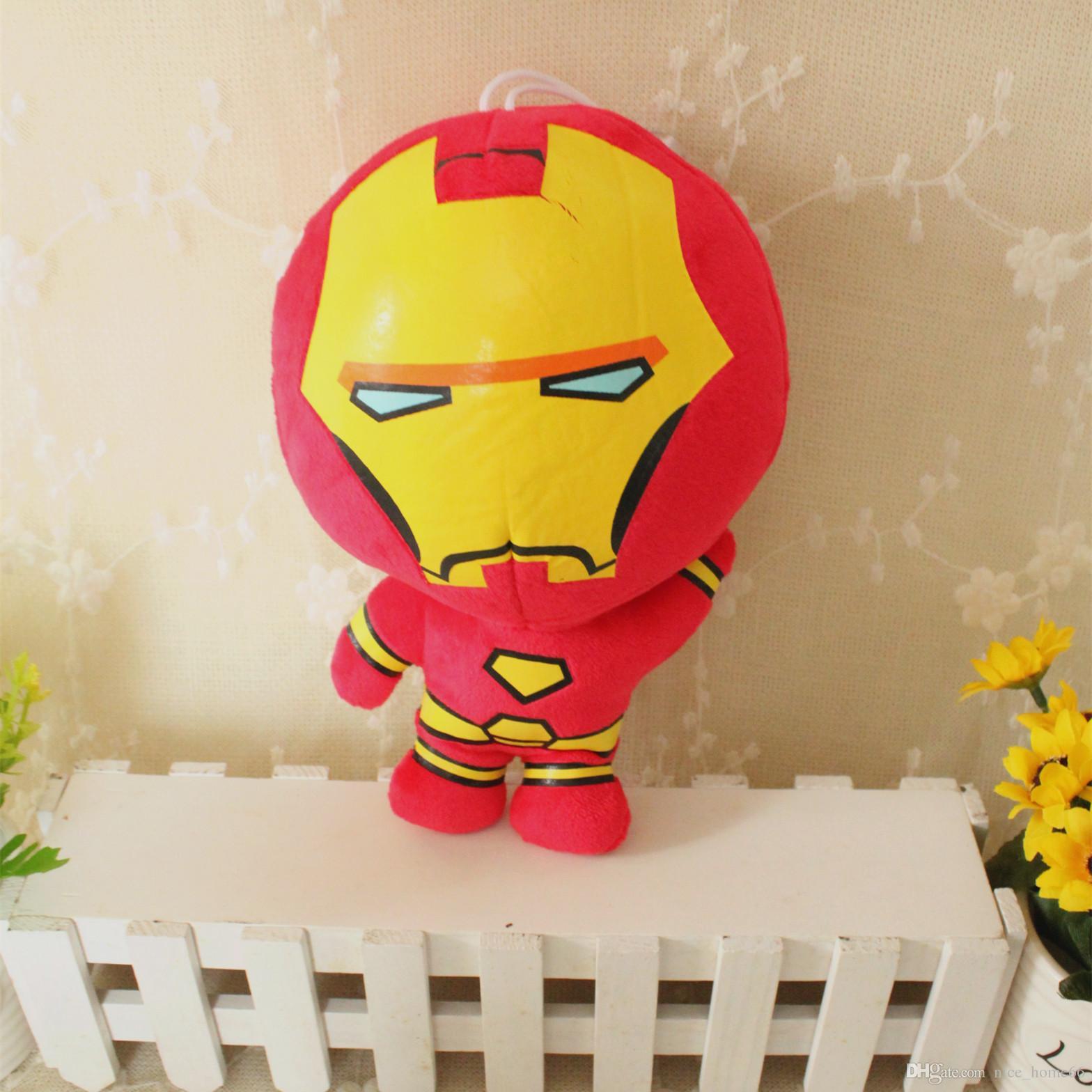 The Avengers 2 Plush Toys Iron Man Superhero Spiderman Thor Captain America Version Stuffed Dolls Soft PP Cotton Movie Action Figures