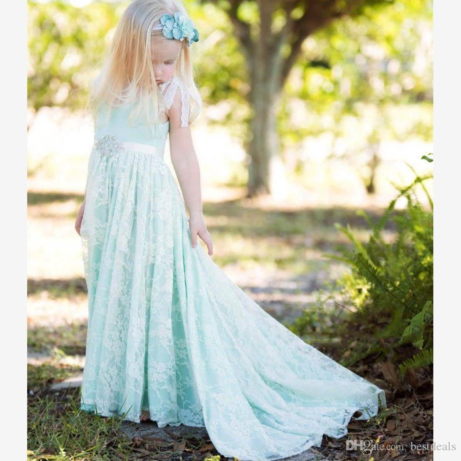 vintage baby blue boho flower girl dresses for beach wedding 2017 u backless high quality cap. Black Bedroom Furniture Sets. Home Design Ideas