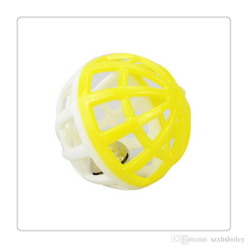 2016 Hot Tinkle Bell Ball Pet Toy Plastic Dog Cat Pet Kitten Playing Balls New Styles Funny Toys Pet Supplies
