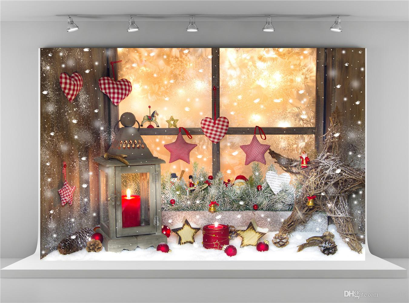 2018 digital printing christmas photography backdrops window decoration background five stars frozen snow backdrops shooting for baby christmas p from