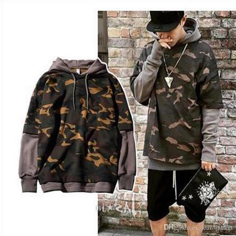 Mens Camouflage Hoodies Hip Hop Hoodie Men Skateboard Sweatshirt Autumn  Pullover Hoodies Lovers Coat Grey Black Khaki Plus Size Clothing UK 2019  From ... f1eeb79c222