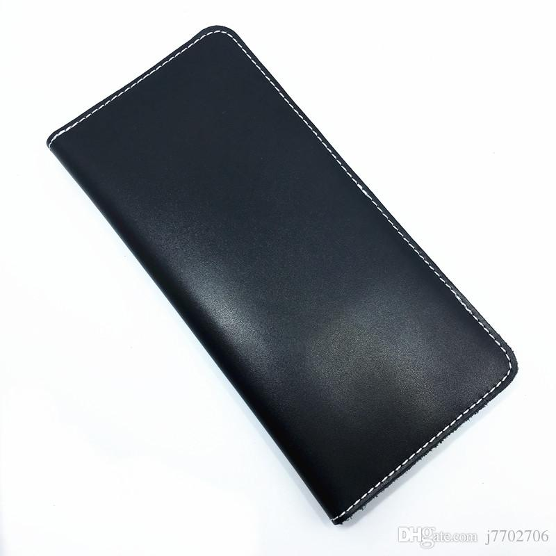 Mens 리얼 가죽 빈티지 수동 디자인 부드러운 지갑 고품질의 배 망 가죽 롱 클러치 백 전화 지갑 무료 배송