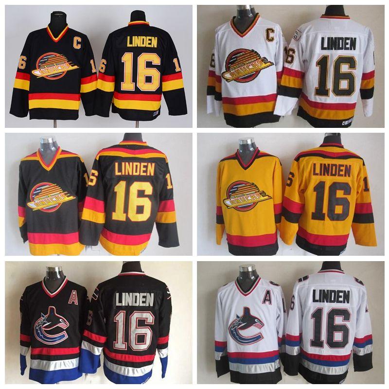 87589557a ... 2017 Throwback Trevor Linden Vancouver Canucks Hockey Jerseys 1994 Ccm  Vintage Black 16 Trevor Linden Jersey ...