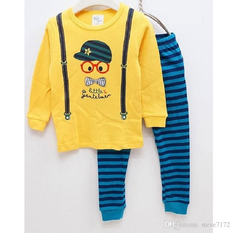 e81722da4b77 2019 Fashion Baby Boys Clothes Belt Children Pajamas Cotton Kids ...