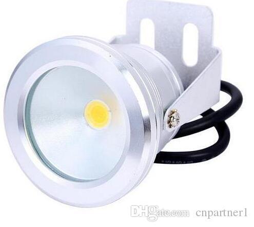 12V ou 110V 220V 10W RGB LED IP68 Sous-marine Lampe Flood Pool lumière Aquarium Fontaine ampoules Projecteur Blanc chaud Wash lampe spot