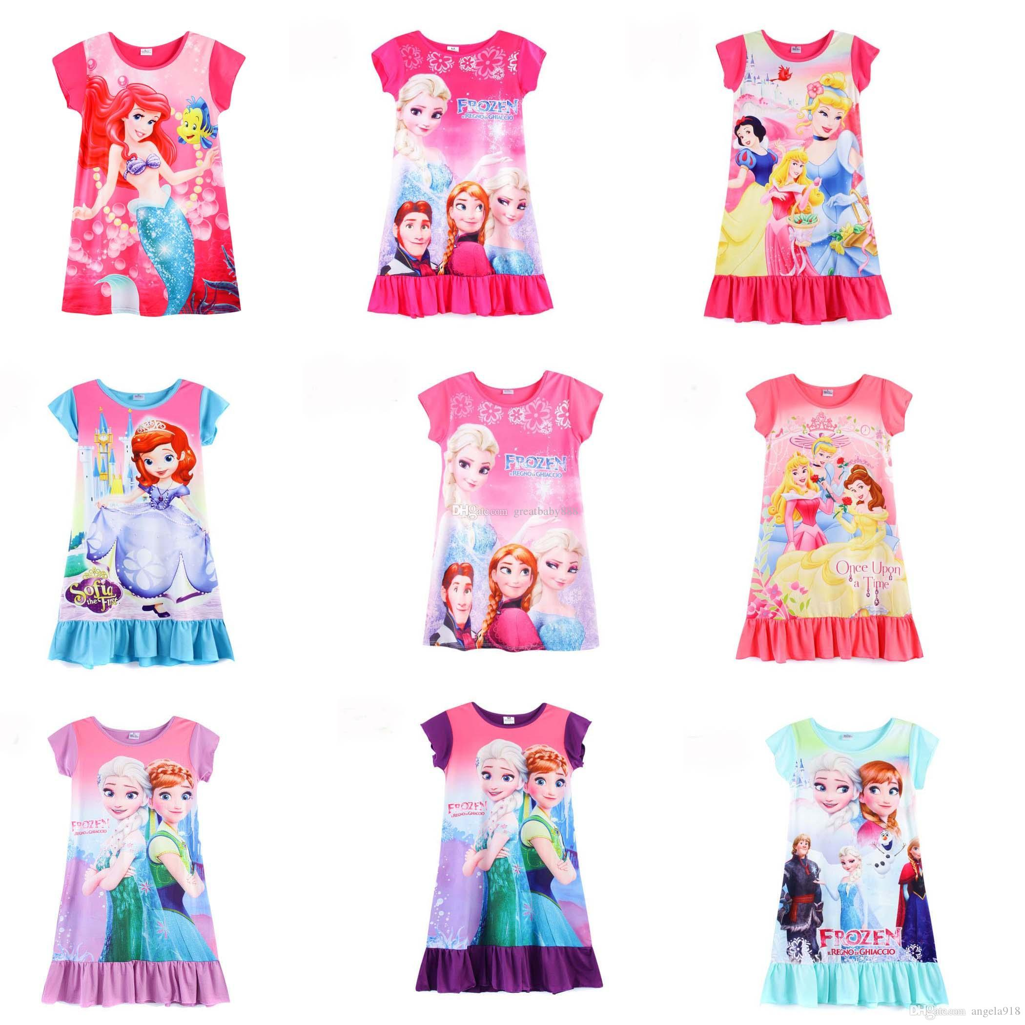 2017 2017 summer girls dress elsa anna mermaid snow white princess
