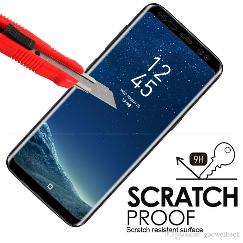 3D Full Screen Cover Curved Tempered Glass For Samsung Galaxy S8 S8 Plus Screen Protector Film