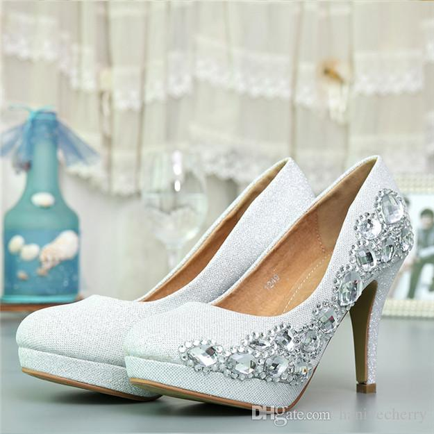 Italian Designs White High Heel Leather Shoes Luxurious Wedding With Stone Quality Ladies Bridal Orthopedic Comfortable From