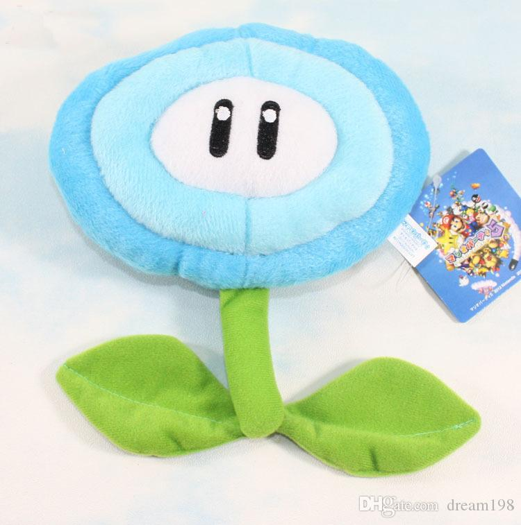 New Ice & Fire Flower Super Mario Bros Plush Dolls Stuffed Animals Toy  / Size : 17cm