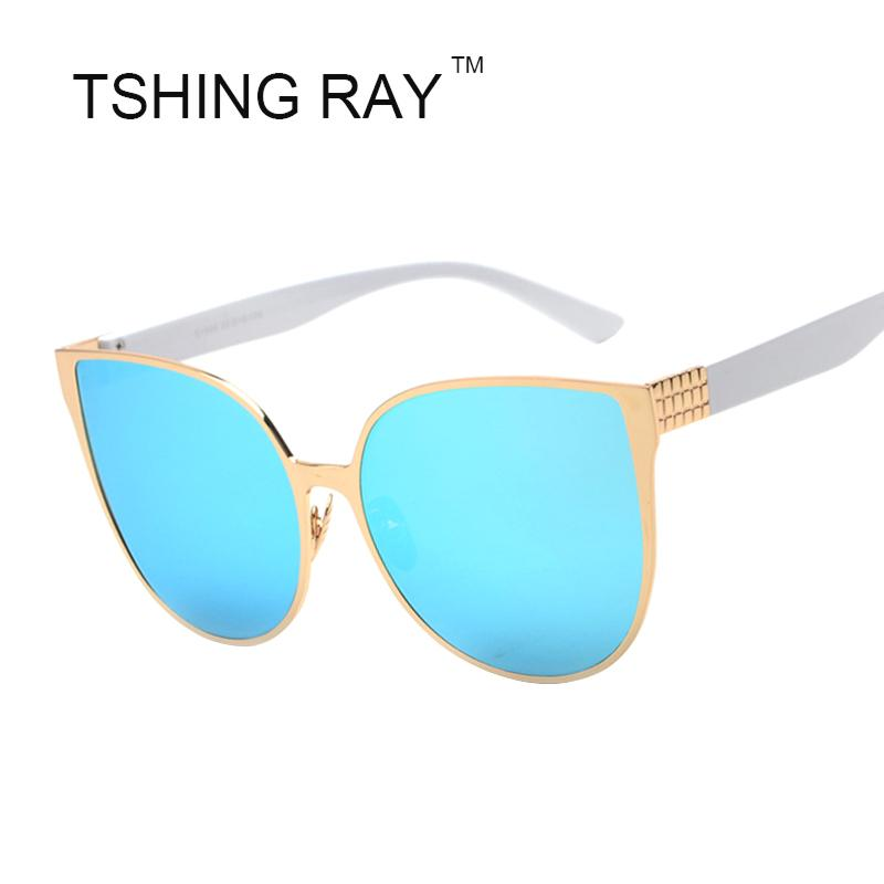 b55ff8af50 Wholesale TSHING RAY New Oversized Cat Eye Women Sunglasses Fashion Female  Mirror Sun Glasses Vintage Shades European Style Sunglases Polarized  Sunglasses ...