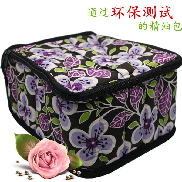 "30 -Bottle Essential Cosmetic Case Perfect Fashion Makeup Bag for Traveling Professional Double Zipper Contain 10ml ,15ml ,30ml Bottles 4 ""H"