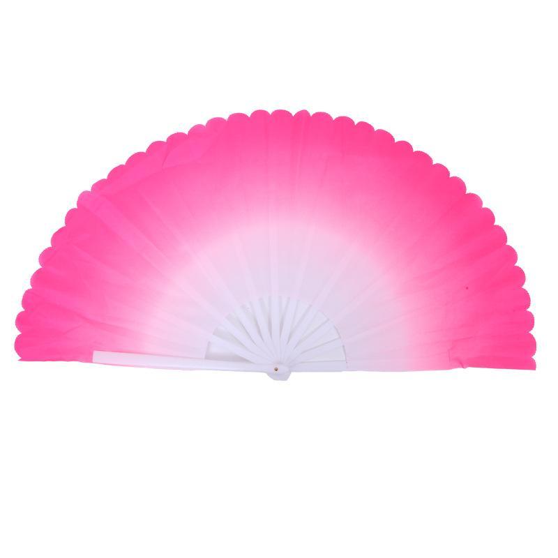 Aficionados a la danza Gradiente de la moda de color chino seda de seda real Velo del ventilador KungFu Fans de danza del vientre para el regalo del banquete de boda Favor o etapa Show