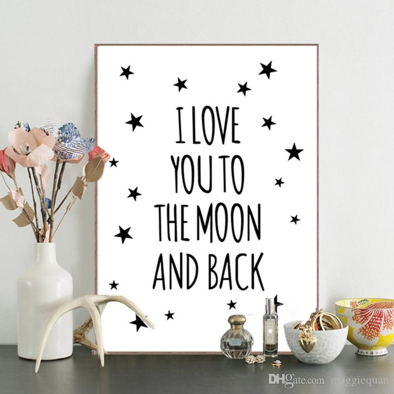 2018 Inspirational Love Quotes Canvas Wall Art Prints Painting Nursery  Poster Cartoon Rabbit Wall Picture For Children Room Wall Decor Unframed  From ...