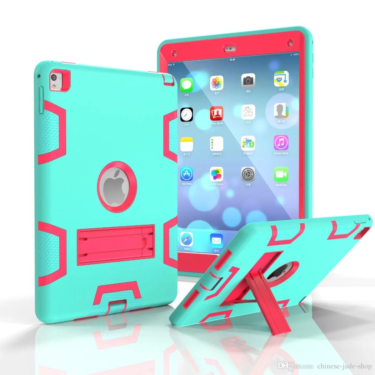 A Type Heavy Duty Shockproof Kickstand Hybrid Robot Case Cover for iPad pro 9.7 Pro 10.5 ipad 2 3 4 air 1 air 2