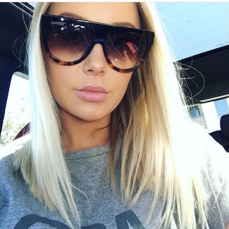8117202d7151f Compre Atacado Moda Feminina Oversized Cat Eye Sunglasses Mulheres Vintage  Designer De Marca De Luxo Big Frame Óculos De Sol Tom Feminino Oculos UV400  De ...