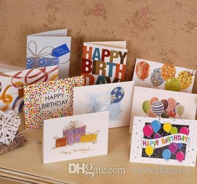 Sweet Wish Lovely For You Happy Birthday Thank You Favor Gift Card Greeting Christmas Printed Card/Kid Gift