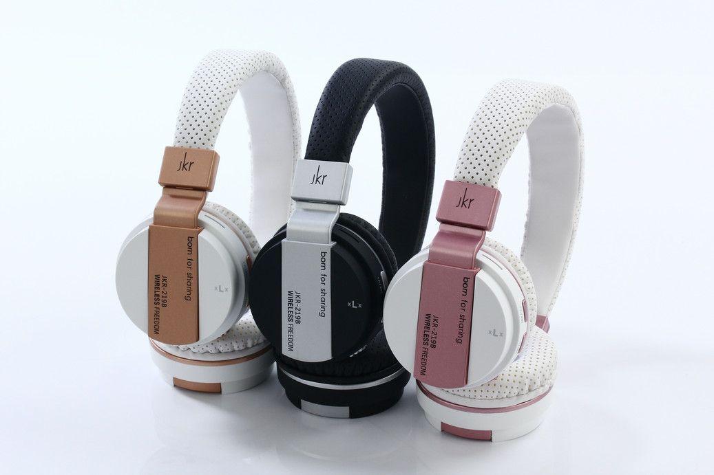 6c13d8c1451 Brand New JKR 219B JKR219B Wireless Bluetooth Headphones Earphones Folding Headset  Mic Support Music TF Card Slot FM For Smart Phones PC Surround Sound ...