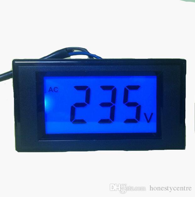D69-20 Due display LCD fili AC 80-500V voltmetro Panel Monitor con la gamma di retroilluminazione blu volt 80V 220V 380V 450V 500V