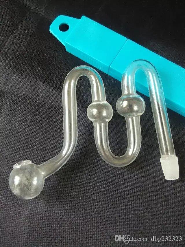 Accessoires de bangs en verre de brûleur de forme de M, pipes à fumer en verre multicolores multicolores à main tubes de la meilleure cuillère en verre