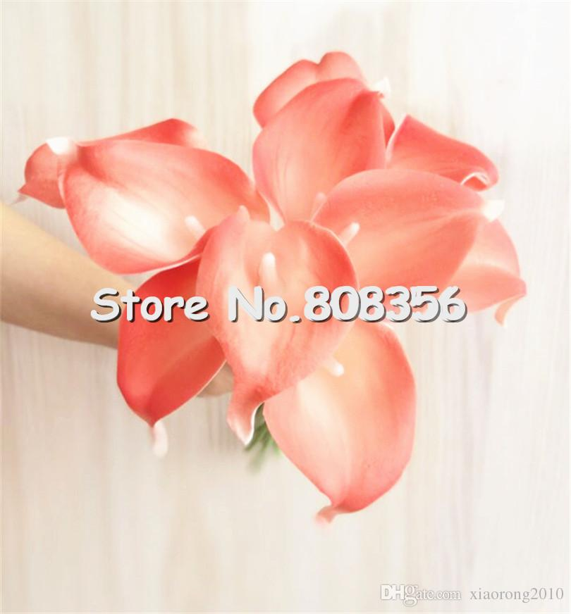 """REAL TOUCH Callas 35cm/13.78"""" Length Super Artificial Flowers Simulation Calla Lily PU Flower for Wedding Flower"""
