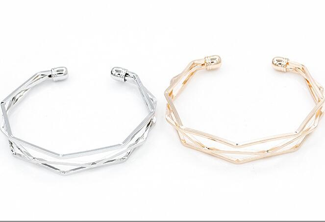 New Personalized Rose Golden Cuff Bangles Multi Layer Cuff Bracelets Best Gifts for Lover man women wristband jewelry