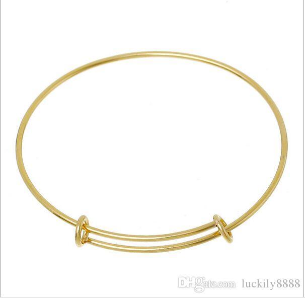 / Top Qualité En Acier Inoxydable or argent Bracelet Femmes Bijoux Charme Peut ajusté Bracelets Bracelet Bijoux Faire