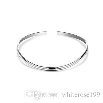 Al por mayor - El precio bajo al por menor regalo de Navidad 925 joyería de plata de moda envío gratis Collar N109