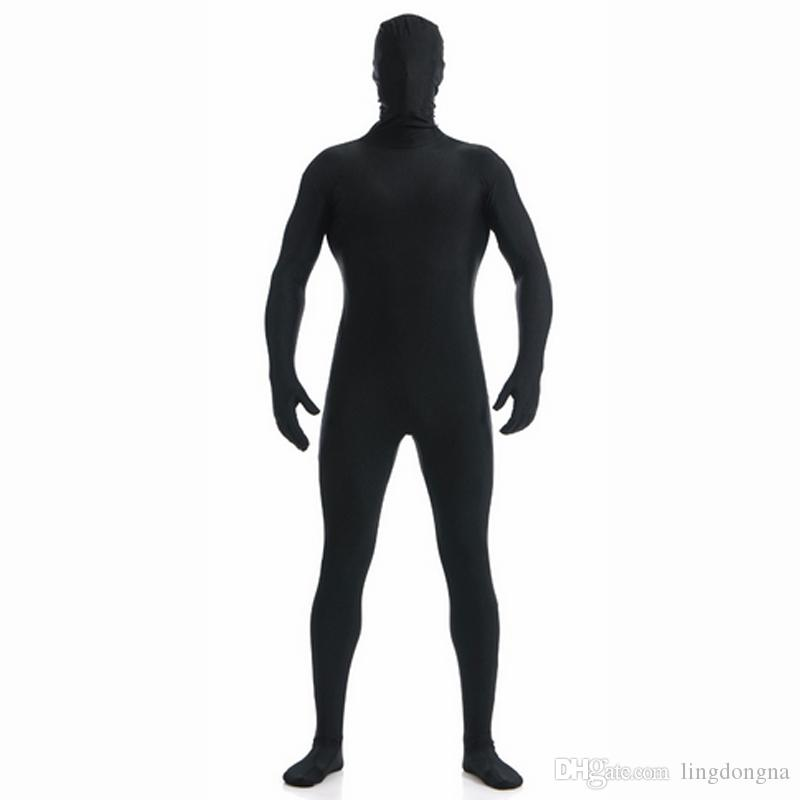 Кожа Ensnovo взрослых мужчин черный спандекс Зентаи всего тела Tight Комбинезон мужской костюм Зентаи комбинезон костюм для Унисекс Комбинезон лайкры Dancewear