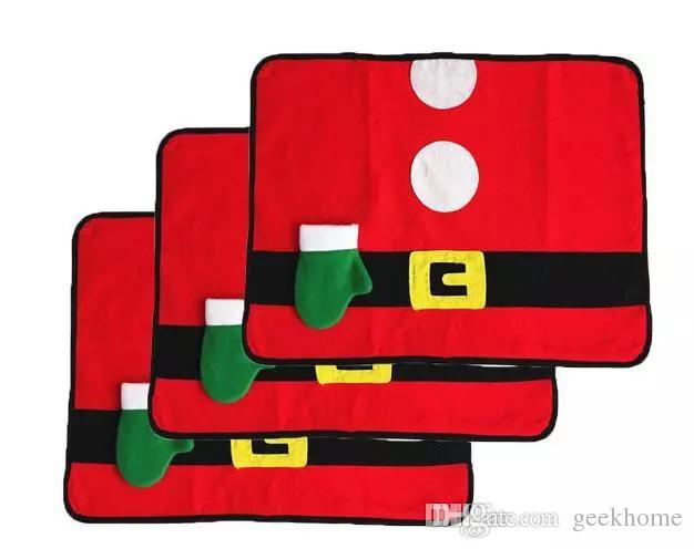 أحدث القماش الأحمر عيد الميلاد الجدول المفارش حصيرة الجدول الاحتفالات شعر حزب عيد الميلاد عشاء ديكور نمط ريفي الديكور احتفالي لوازم حمراء
