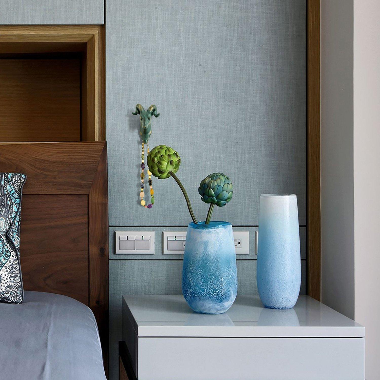 Crochet en forme de manteau de crochet de mur / crochet de forme simple d'animal de tête de moutons Heavy Duty, rustique, recyclé, cadeau décoratif, couleur bronze rustique