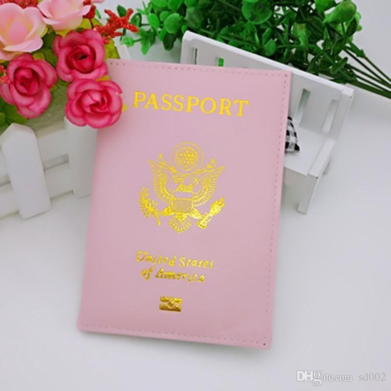 Fashion Faux Leather ID Card Case United States Of America Protective Sleeve Durable PU Passport Cover For Men And Women 2 8kf B