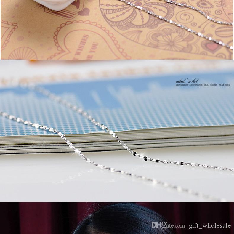 20 unids 925 plata lisa diferentes cadenas de formas Collar de cadena de serpiente tamaño mezclado 40-45 CM 16-18 pulgadas de la venta caliente