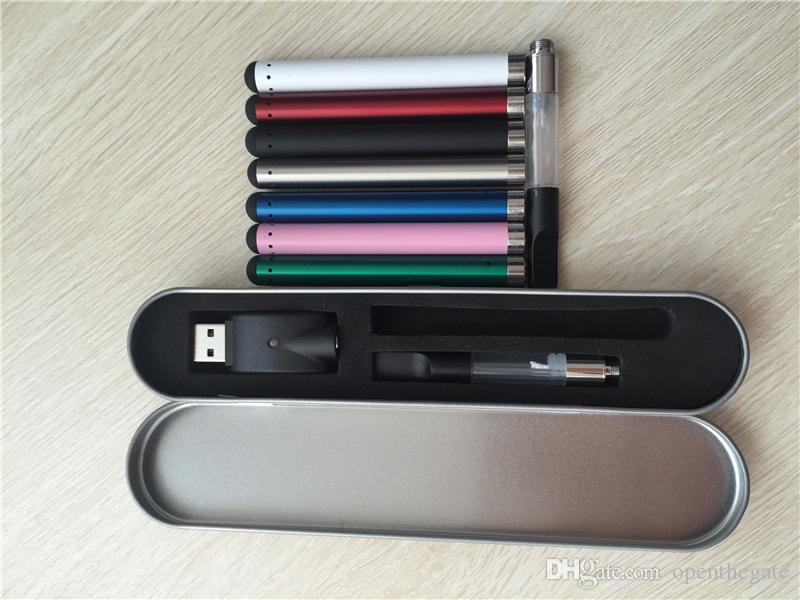 O stylo CE3 Vaporisateur Stylo Atomiseur Bourgeon Touch Kit 280mAh Batterie Mini Chargeur USB 510 menace Vape 0.5ml 1.0ml