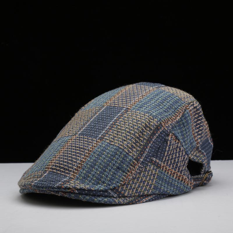 711a8abc9db Wholesale-Fashion Plaid New Fashion Flat Cap Summer Gatsby Style ...