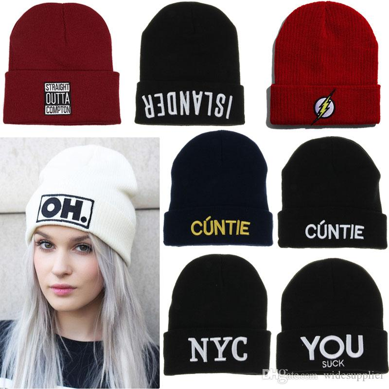 f4a4c8b99e5 2017 Burst Beanies Hats Caps Fashion Men And Women Wool Hat Hip Hop  Creative Embroidery Knitted Hat For Adults Cute Beanies Red Beanie From  Widesupplier
