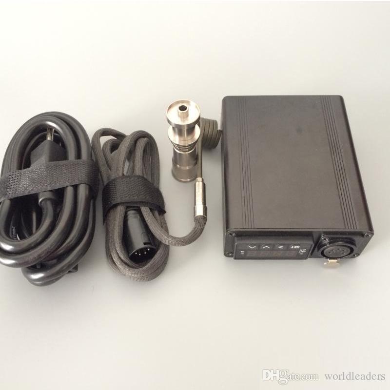 Cera de fumar Original e-prego kit aquecedor bobina elétrica enail dab caixa de controle de temperatura com tela digital de titânio prego dispositivo aquecedor dnail
