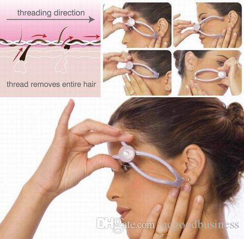 لنزع الشعر أداة الجمال الوجه والجسم مزيل الشعر لنزع الشعر يدويا نظام خيوط عالية الجودة الخد مزيل الشعر للمرأة سهلة الاستخدام
