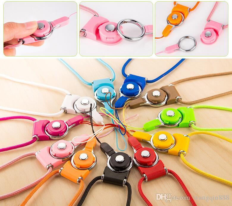Universal Detachable Lanyard Cell Phone Neck Lany Ring Lanyard Hanging Charms Security Badge Chain For Cell Phone MP3 4 Flash Drives ID Card