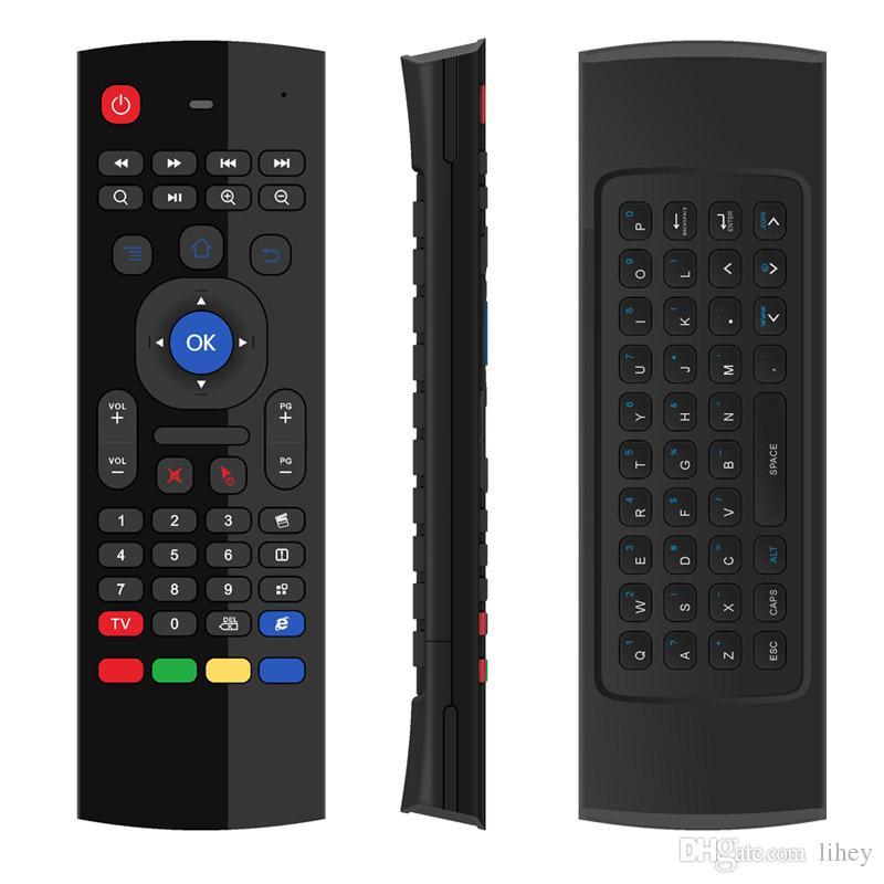 20 adet X8 Hava Fly Fare MX3 2.4 GHz Kablosuz Klavye Uzaktan Kumanda Somatosensory IR Öğrenme Android TV Box PC için 6 Eksen