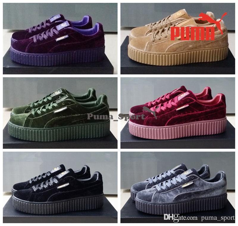 best sneakers 3f7a3 fd416 puma suede creeper purple black