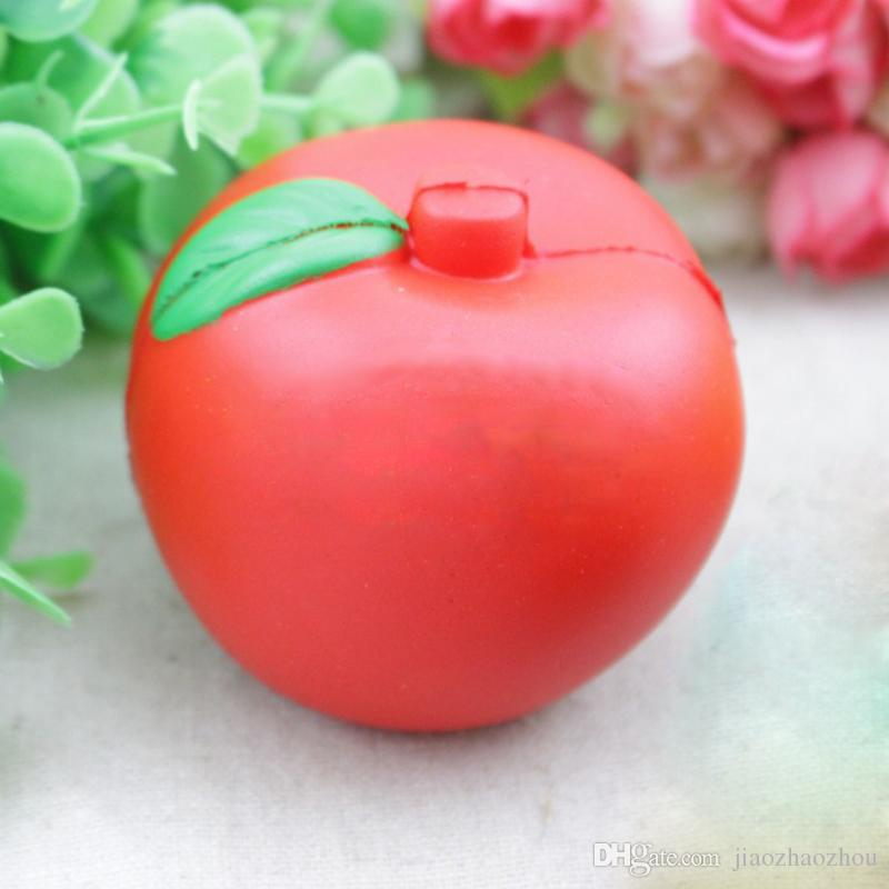 7cm Green/Red Kawaii Apple Fruit Squishy Slow Rising Phone/Bag Straps Charm Squeeze Toys Squishies Kids Toy Christmas apple