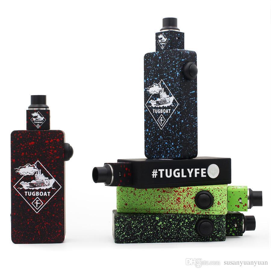 Tuglyfe Mod Box mod non modificati Mod fumatori Tugboat Reed cubi pieno atomizzatore velocità meccanica RDA rimorchiatore vaporizzatore e sigarette sigarette