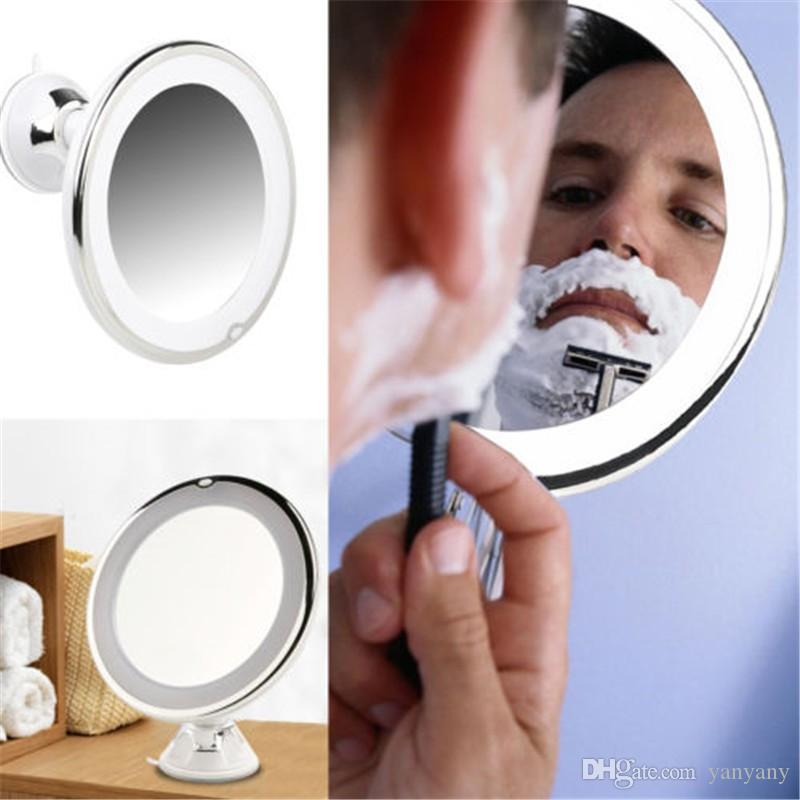 7x Magnifying Makeup Mirror Adjustable 7x Magnifying Lighted Makeup Mirror  With Power Locking Suction Cup Art Deco Mirror Bathroom Mirrors With Lights  From ...