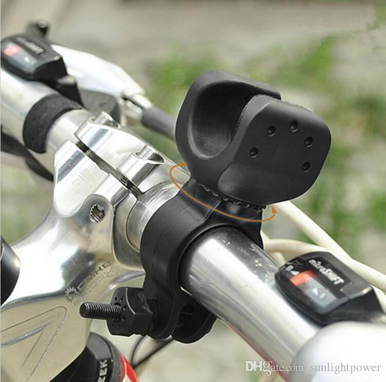 Rotation Swivel Bicycle Mount Road Bike Headlight Flashlight Torch Head Light Lamp Holder Bracket Clamp Clip Grip Black