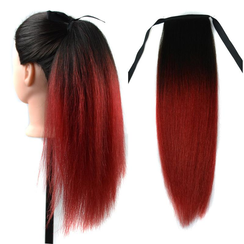 Ombre human hair ponytails 16 inch yaki t1b red two tone virgin ombre human hair ponytails 16 inch yaki t1b red two tone virgin brazilian ponytail hair extensions human hair wrap ponytail ponytail wrap around from pmusecretfo Image collections