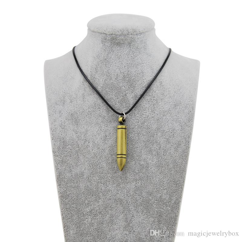 Original bullet Necklace Counter Strike bullet Chain Men's Revolver Choker Vintage Gold CS GO bullet Necklace Men Jewelry Souvenir Gift