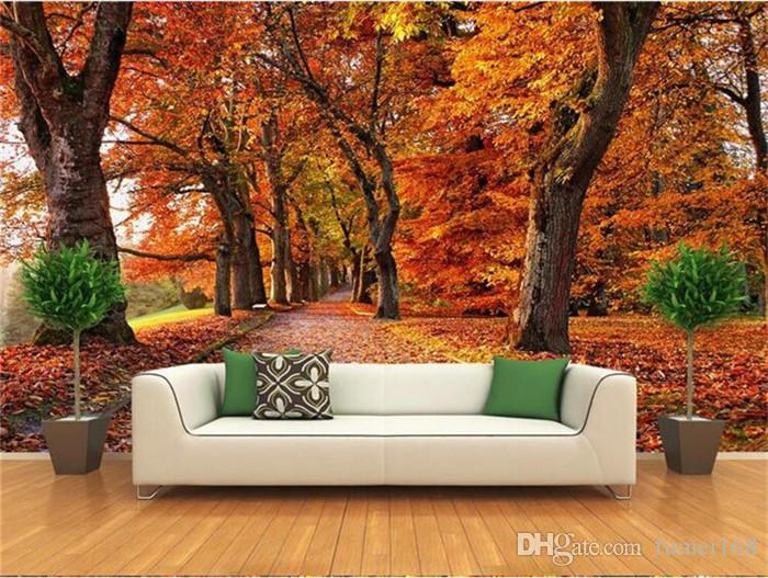 Autumn Leaves Luxury Wallpaper Photo Wall Mural For Living