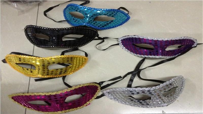 Parti maskesi paillette maske sopa ile 2017 El Yapımı Parti Maskesi Düğün