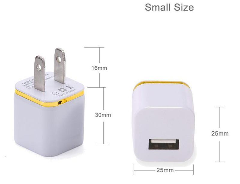 5V 1A carregador de parede adaptador Universal USB Ac parede Travel Power Início carregador adaptador para Samsung S7 S8 HTC Xiaomi