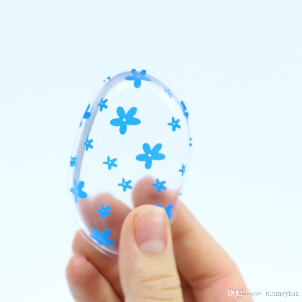 Silicone Transparent bouffée cosmétique pro fundation Maquillage Silicium Éponge Gelée Gelée Fond de Teint Cosmétique Puff Flawless Oeuf En Poudre